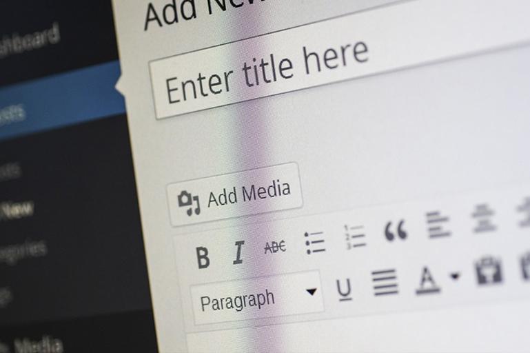 adding content via wordpress