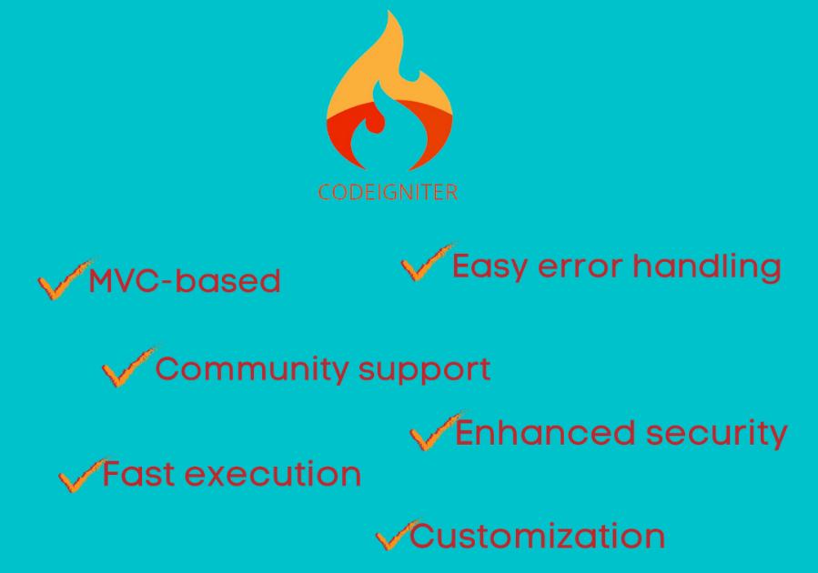 CodeIgniter benefits