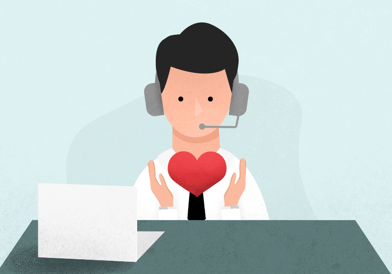 emotions in customer service WiserBrand
